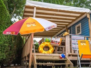 Mobil-home tout confort au camping Le Domaine de la Marina