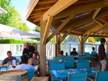 Restaurant du camping Le Domaine de la Marina