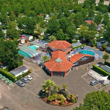 Vue drone du Camping Le Domaine de la Marina